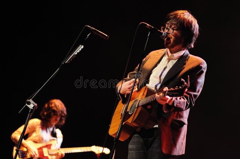 Sheff, τραγουδιστής του ποταμού Okkervil στοκ εικόνες