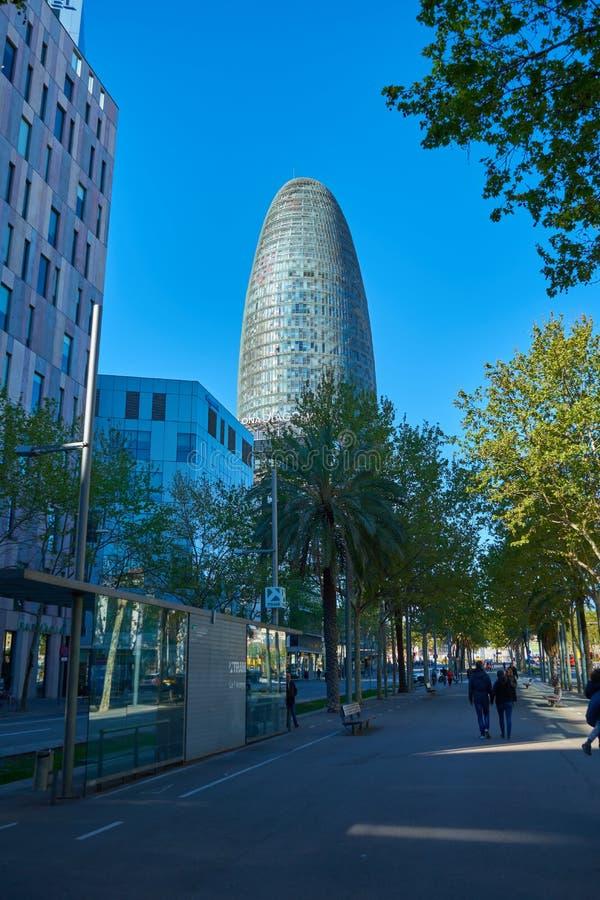 Βαρκελώνη, Ισπανία - 7 Απριλίου 2019: Κτήρια της Βαρκελώνης, Ισπανία στοκ φωτογραφίες