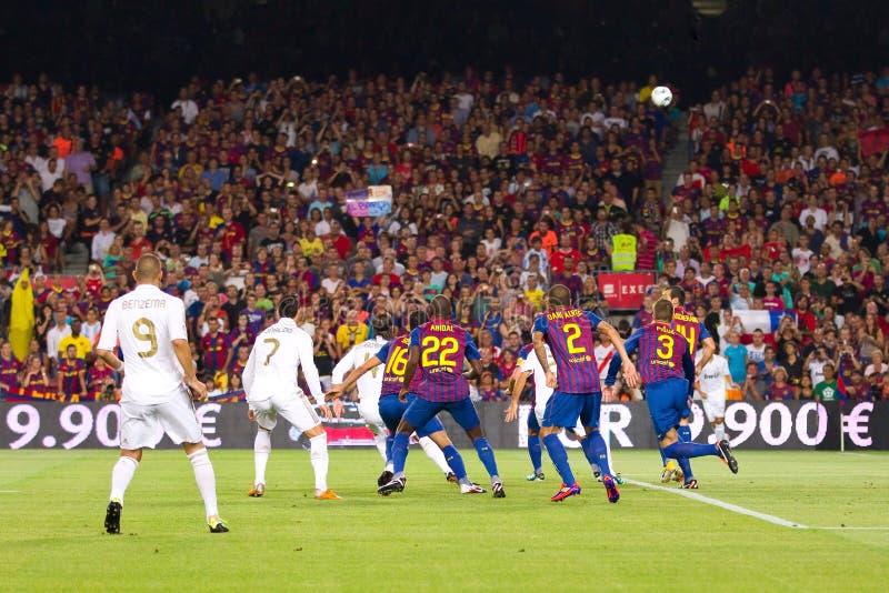 Βαρκελώνη fc Μαδρίτη πραγματ στοκ φωτογραφία