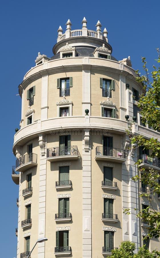 Βαρκελώνη Ισπανία: κτήριο στοκ εικόνες