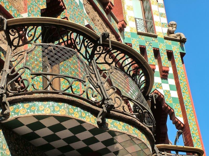Βαρκελώνη, Ισπανία, στις 28 Σεπτεμβρίου 2015 - αρχιτέκτονας Casa Vicens Gaudi στοκ φωτογραφία με δικαίωμα ελεύθερης χρήσης