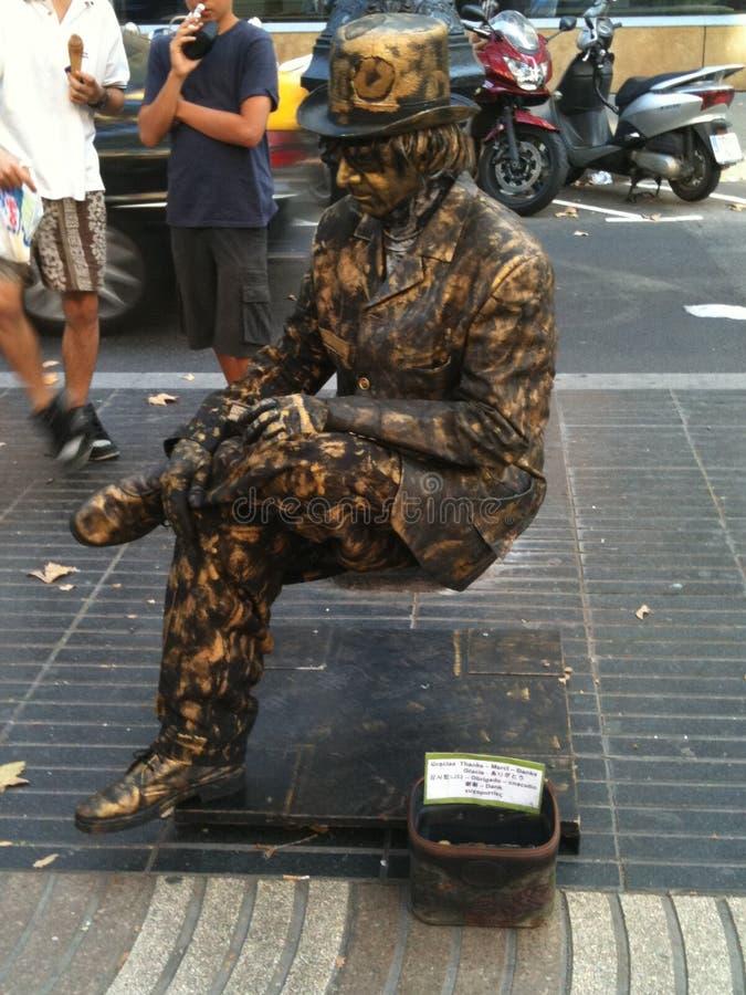 Βαρκελώνη Mime στοκ εικόνες με δικαίωμα ελεύθερης χρήσης