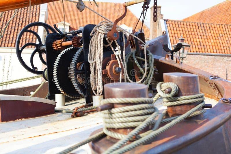 Βαρούλκο sailboat στο Λάιντεν, οι Κάτω Χώρες στοκ φωτογραφίες