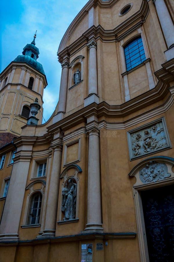 Βαρσοβία, Πολωνία, στις 9 Μαρτίου 2019: Όμορφη άποψη της εκκλησίας στην παλαιά πόλη της Βαρσοβίας στοκ φωτογραφίες με δικαίωμα ελεύθερης χρήσης