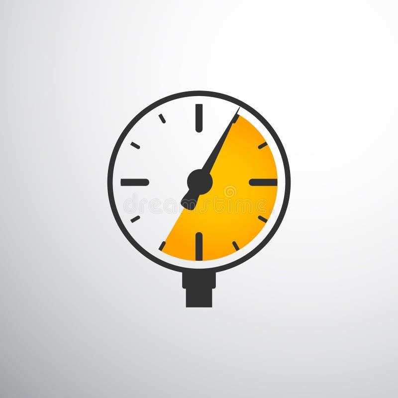 Βαρόμετρο, μετρητής πίεσης διανυσματική απεικόνιση
