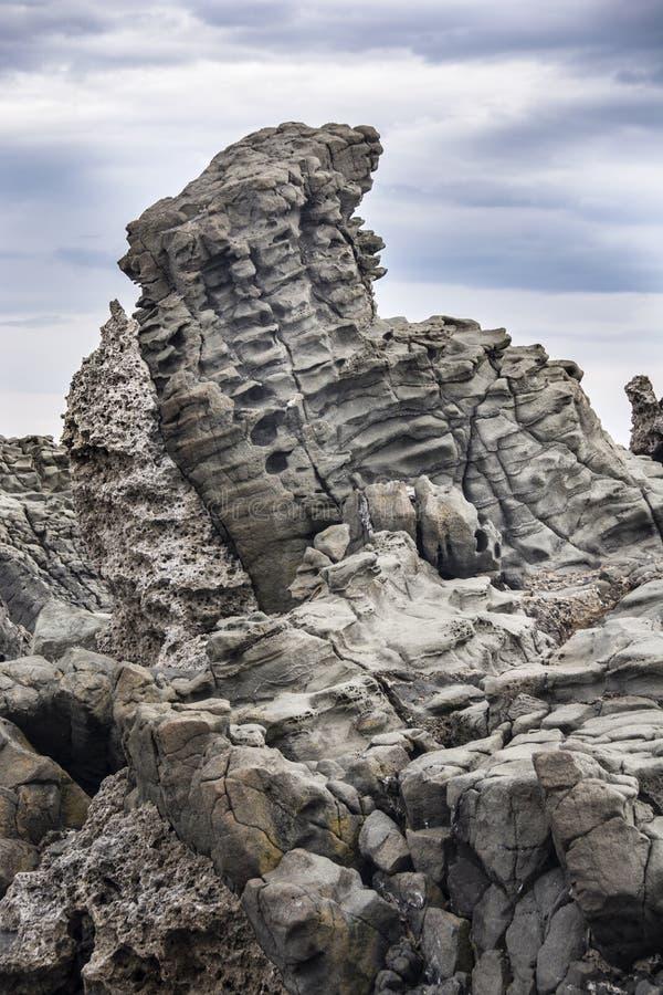 Βασάλτης κιονοειδής σε Acitrezza Σικελία στοκ φωτογραφίες με δικαίωμα ελεύθερης χρήσης