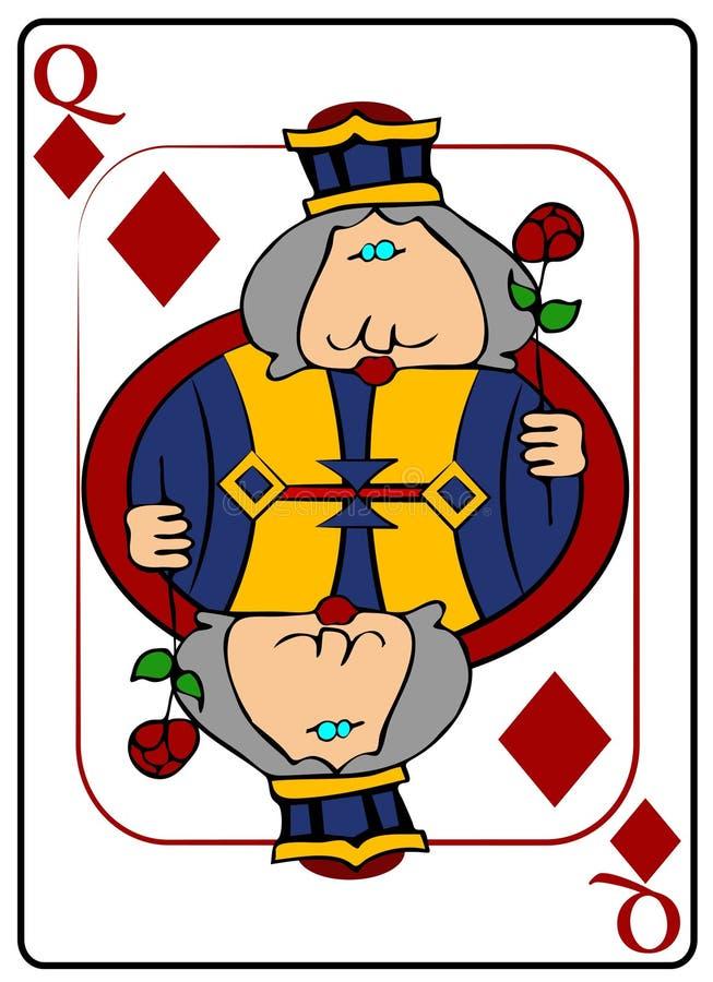 βασίλισσα διαμαντιών διανυσματική απεικόνιση