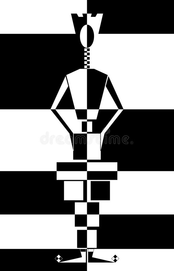 βασίλισσα σκακιού διανυσματική απεικόνιση