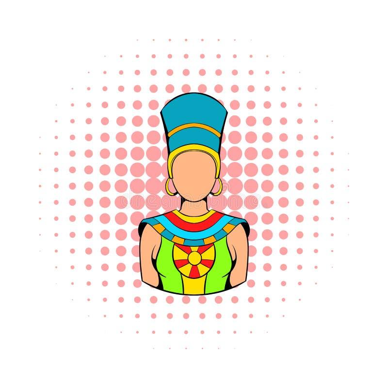 Βασίλισσα του εικονιδίου της Αιγύπτου, ύφος comics διανυσματική απεικόνιση