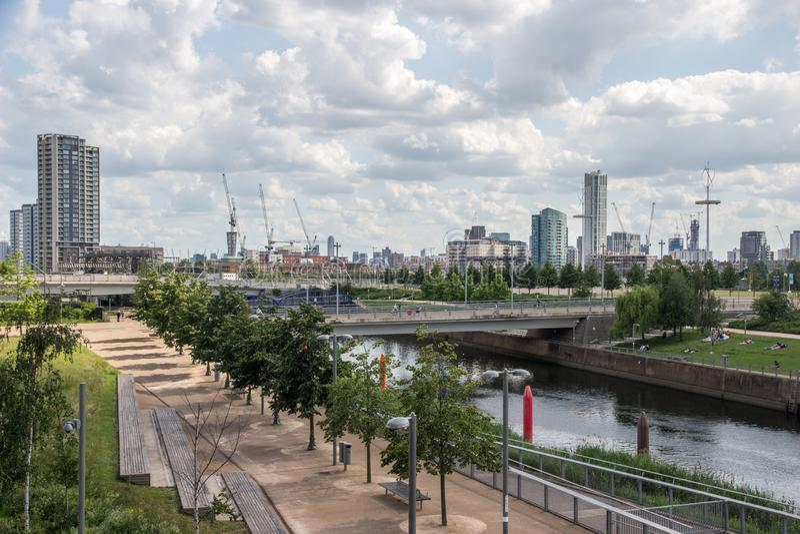 Βασίλισσα Elizabeth Olympic Park, Λονδίνο, Αγγλία, Ηνωμένο Βασίλειο, Ευρώπη στοκ εικόνα με δικαίωμα ελεύθερης χρήσης