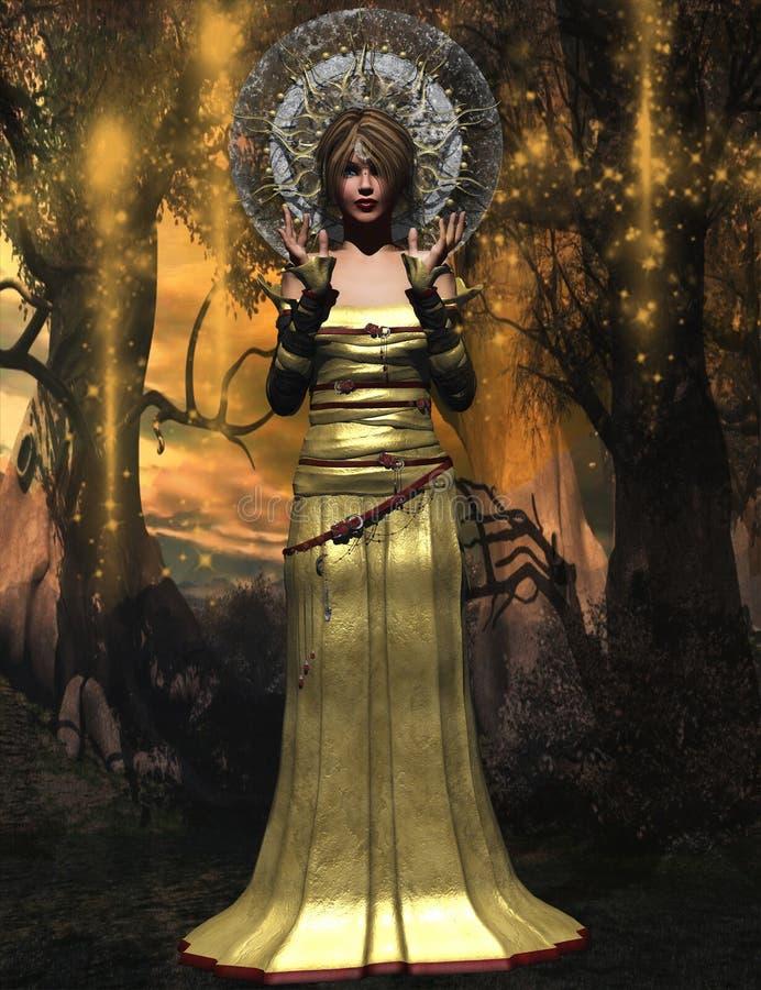 Βασίλισσα μαγικού διανυσματική απεικόνιση