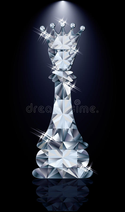 Βασίλισσα σκακιού διαμαντιών απεικόνιση αποθεμάτων