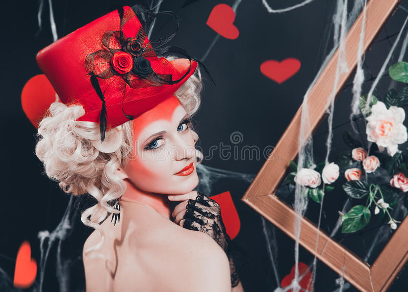 Βασίλισσα των καρδιών στοκ εικόνα με δικαίωμα ελεύθερης χρήσης