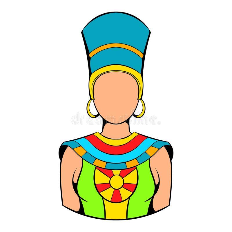 Βασίλισσα των κινούμενων σχεδίων εικονιδίων της Αιγύπτου ελεύθερη απεικόνιση δικαιώματος