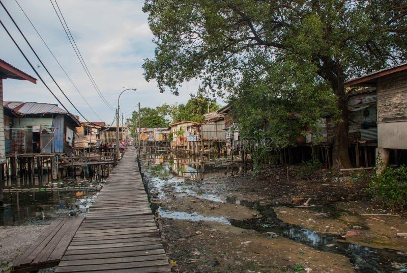 βασικά ξυλοπόδαρα Kota Kinabalu, Sabah, Μαλαισία στοκ φωτογραφία με δικαίωμα ελεύθερης χρήσης