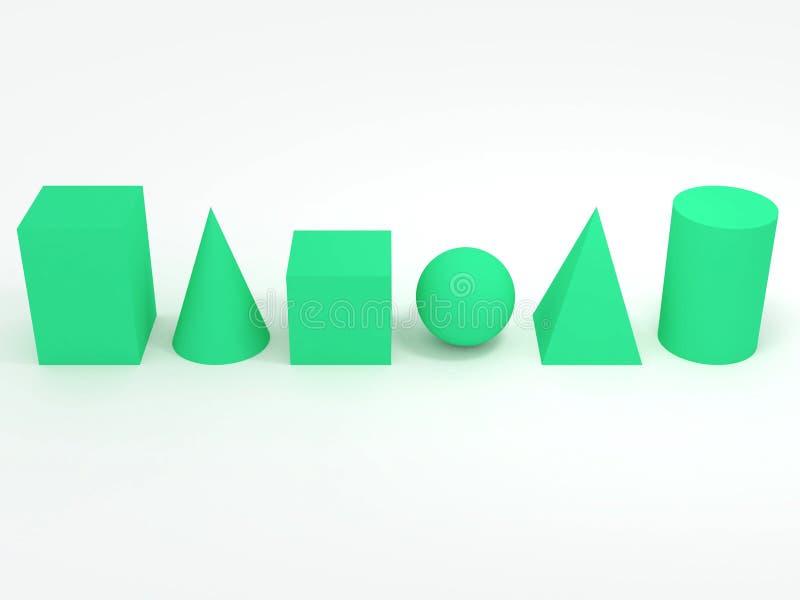 βασικές γεωμετρικές μορ διανυσματική απεικόνιση