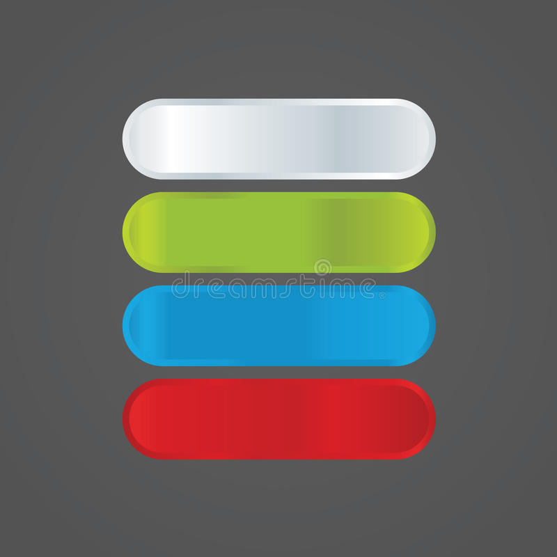 Βασικές μορφές Colorfully. Στοιχεία για τον ιστοχώρο σας σε φρέσκο, tre απεικόνιση αποθεμάτων