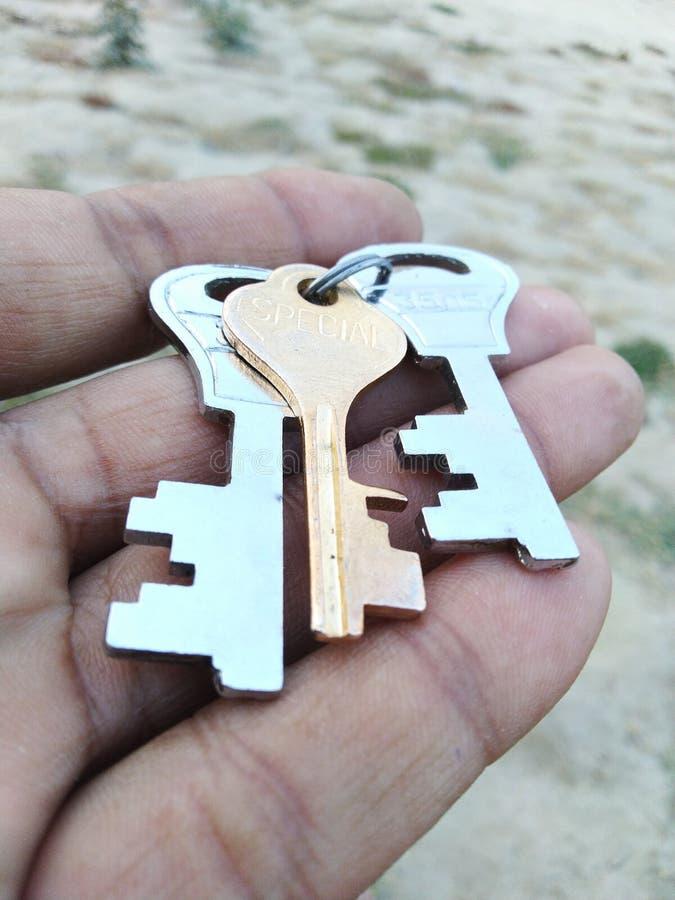 Βασική ασφάλεια σιδήρου υλικού hardwork επιτυχίας κλειδαριών κλειδιών στοκ εικόνα