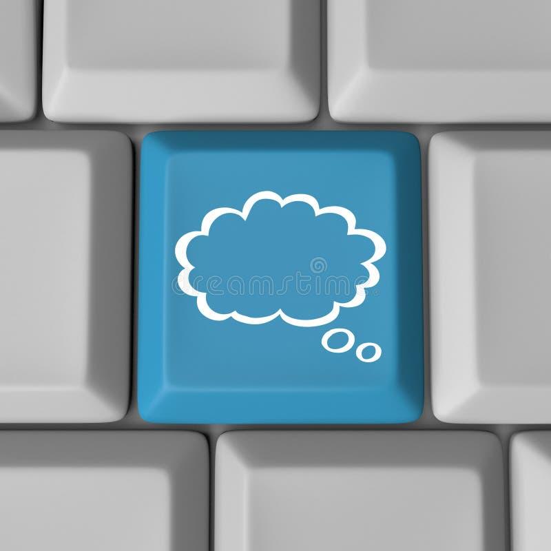 Βασική ιδέα υπολογιστών πληκτρολογίων υπολογισμού σύννεφων ελεύθερη απεικόνιση δικαιώματος