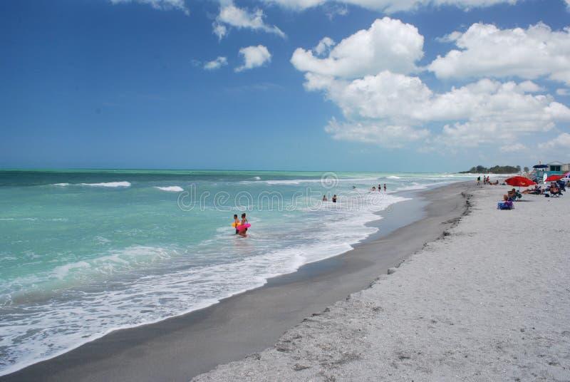 Βασική παραλία σιέστας σε Sarasota Φλώριδα στοκ εικόνες