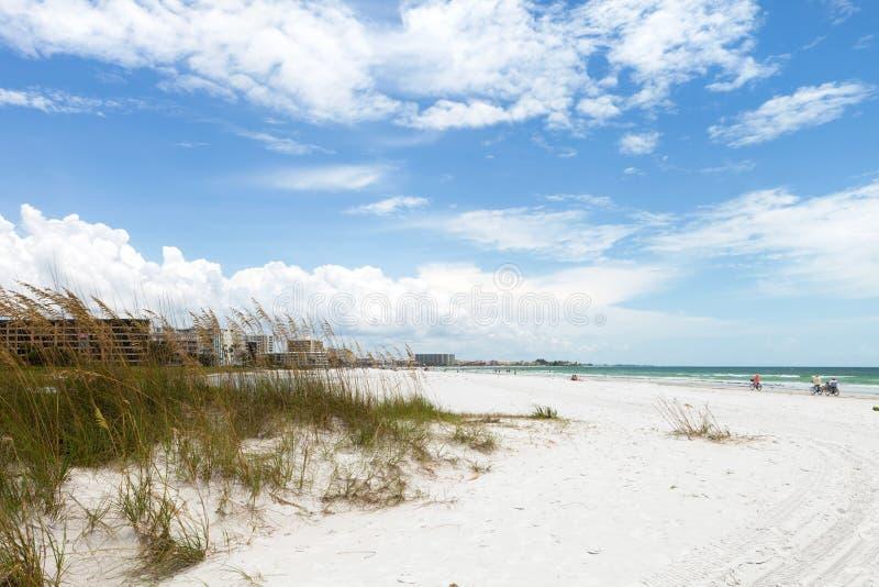 Βασική παραλία Sarasota Φλώριδα σιέστας στοκ εικόνες