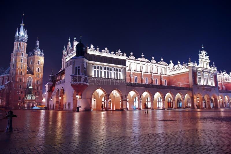Βασική πλατεία της Κρακοβίας στοκ εικόνες