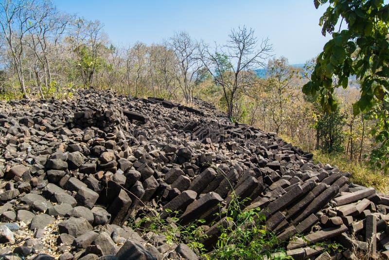 Βασικοί σχηματισμοί βράχου στηλών Ινδία στοκ εικόνες με δικαίωμα ελεύθερης χρήσης