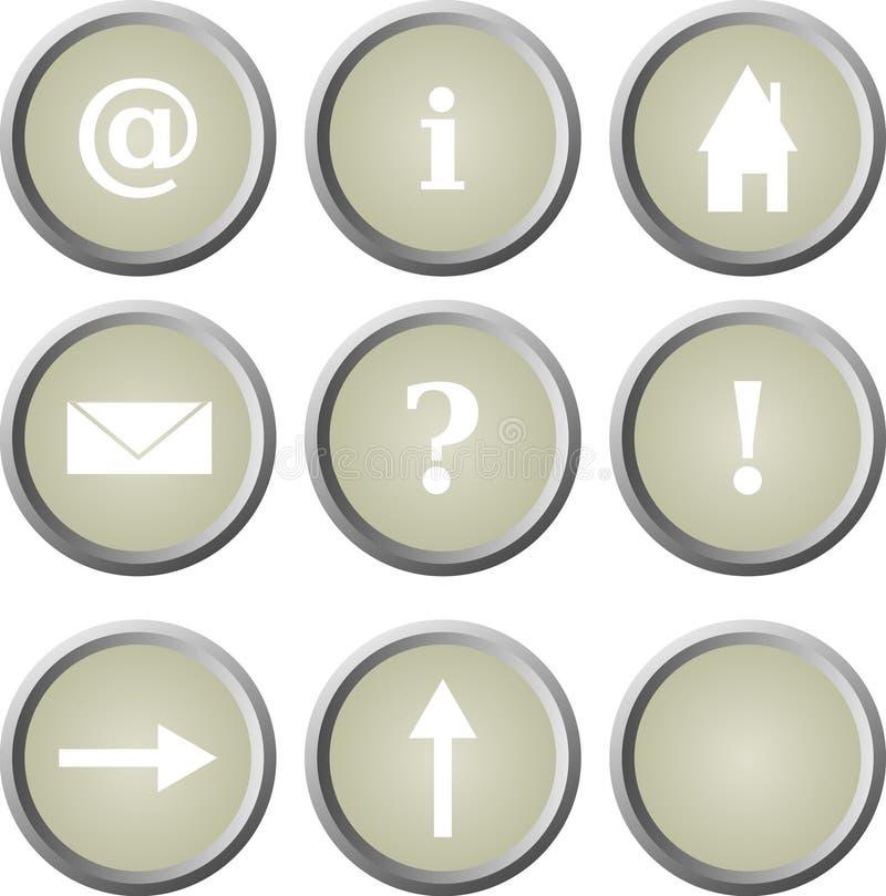 βασικός Ιστός αρχικών σελίδων κουμπιών απεικόνιση αποθεμάτων