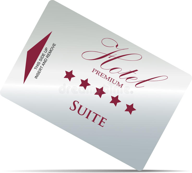 βασικό δωμάτιο ξενοδοχείων καρτών ελεύθερη απεικόνιση δικαιώματος