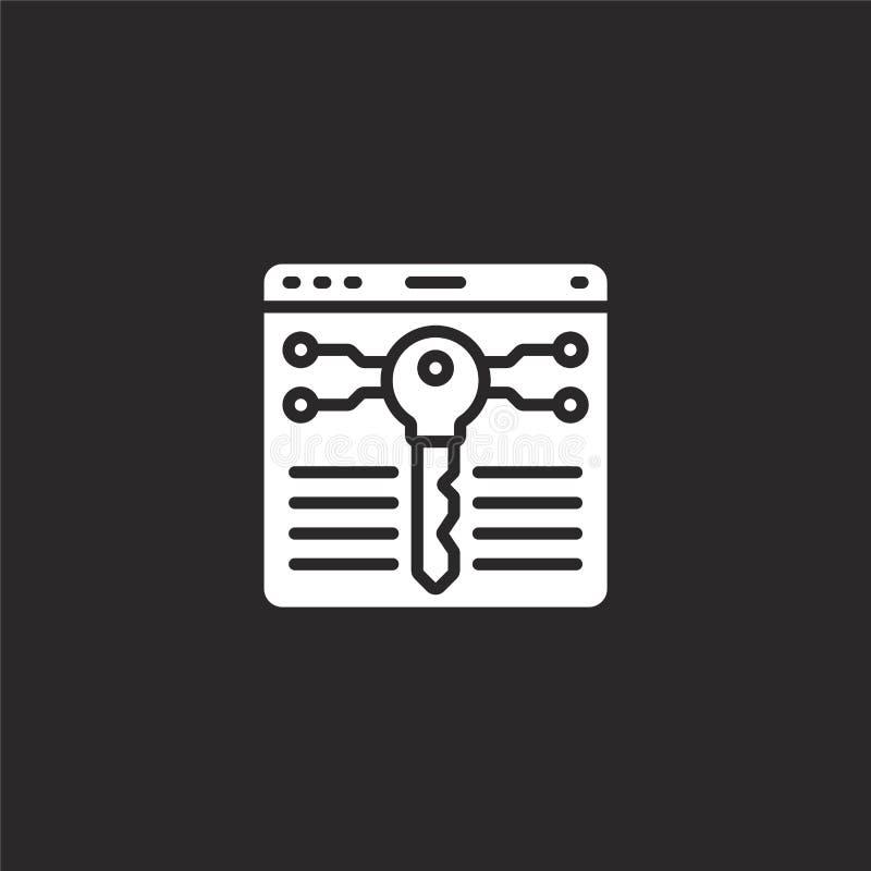 βασικό εικονίδιο Γεμισμένο βασικό εικονίδιο για το σχέδιο ιστοχώρου και κινητός, app ανάπτυξη βασικό εικονίδιο από τη γεμισμένη b διανυσματική απεικόνιση