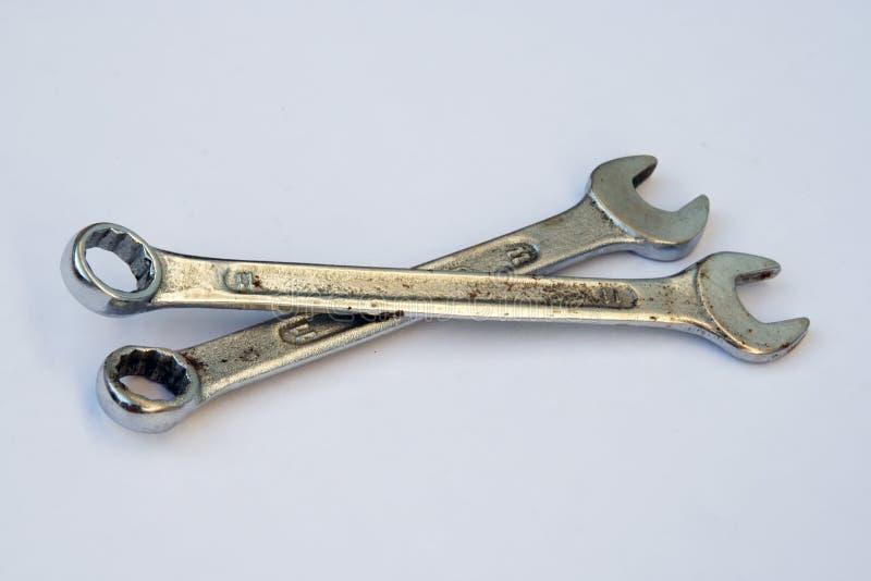 Βασικό εργαλείο μετάλλων τρισδιάστατο απομονωμένο απεικόνιση γαλλικό κλειδί εργαλείων Γίνοντα χρώμιο εργαλείο μετάλλων στοκ εικόνα με δικαίωμα ελεύθερης χρήσης