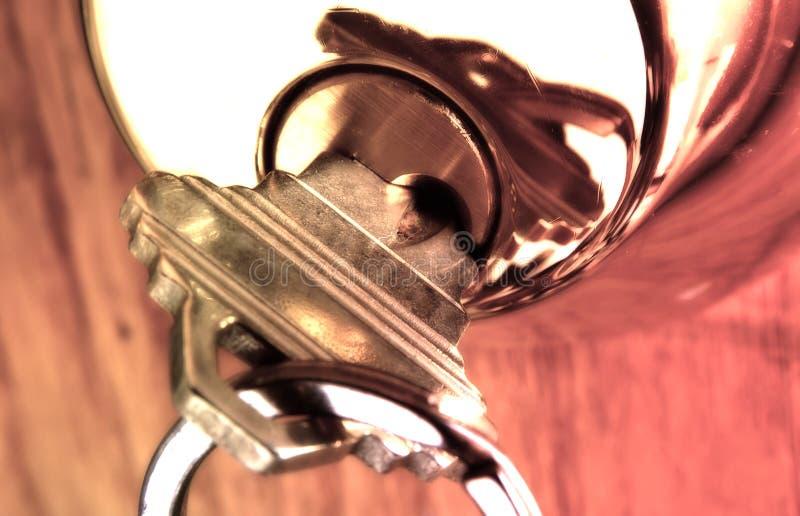 Download βασικό κλείδωμα στοκ εικόνα. εικόνα από πόρτα, πλήκτρο, αποχής - 51571
