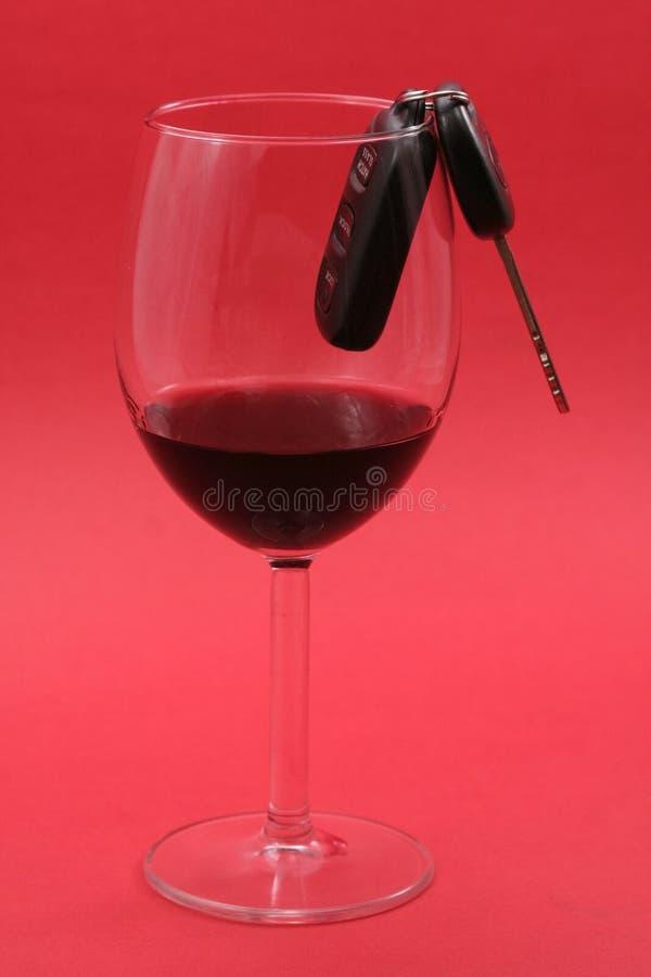 βασικό κρασί γυαλιού αυ&ta στοκ εικόνα