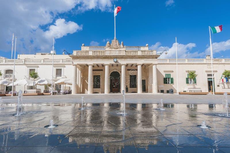 Βασικό κτήριο φρουράς σε Valletta, Μάλτα στοκ εικόνες με δικαίωμα ελεύθερης χρήσης