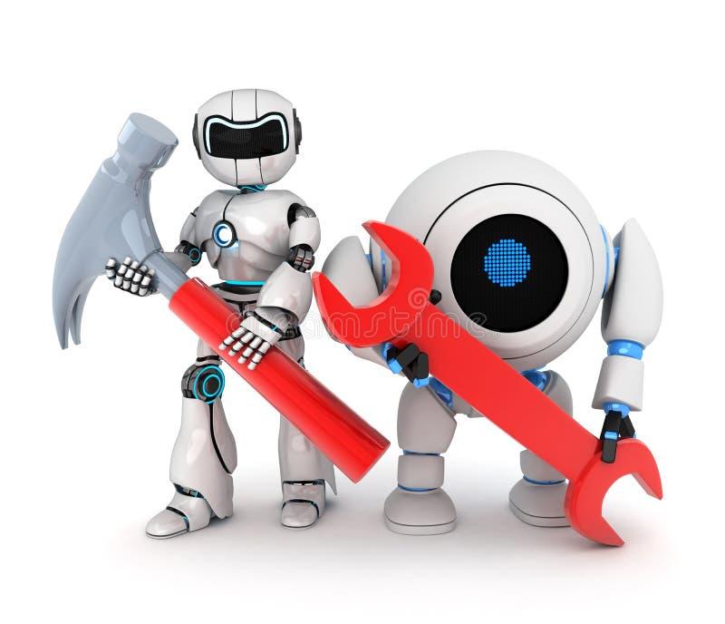 βασικό κόκκινο ρομπότ ελεύθερη απεικόνιση δικαιώματος