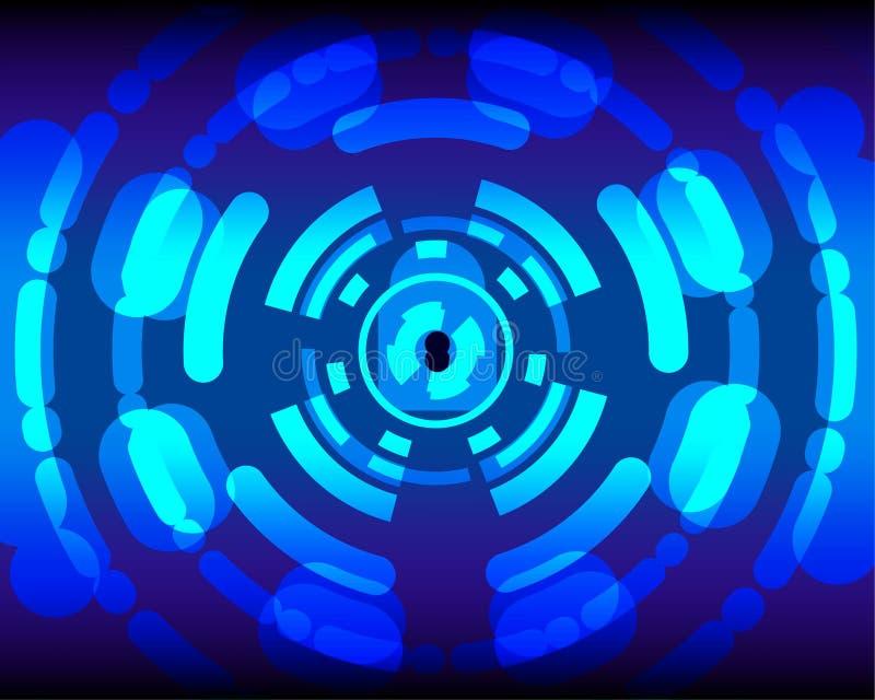 Βασικό μπλε διανυσματικό υπόβαθρο ασφάλειας Cyber για την παρουσίαση στοκ φωτογραφία