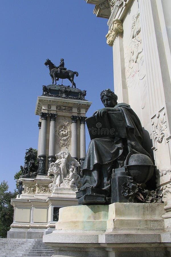 βασικό πάρκο της Μαδρίτης στοκ εικόνες
