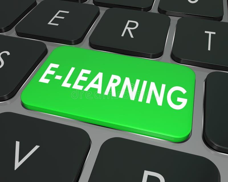 Βασικό σε απευθείας σύνδεση σχολείο εκπαίδευσης πληκτρολογίων υπολογιστών ε-εκμάθησης απεικόνιση αποθεμάτων