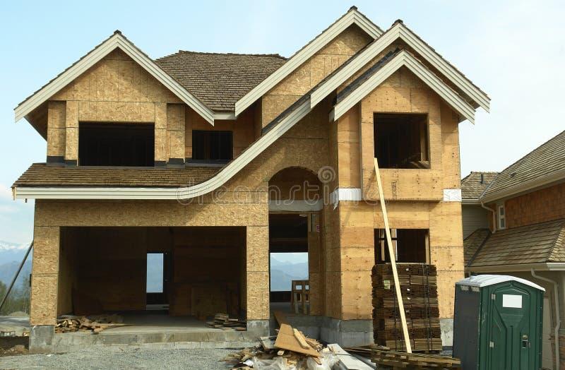 βασικό σπίτι κατασκευής νέο στοκ εικόνες