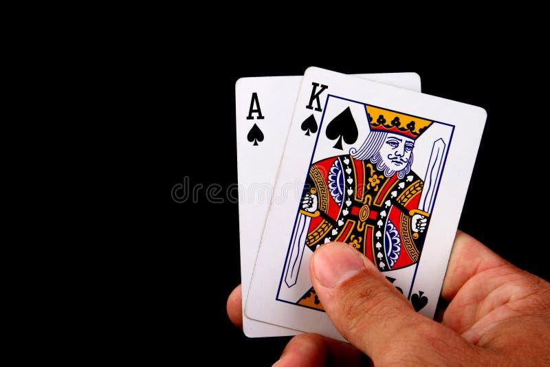 βασιλιάς άσσων στοκ εικόνα με δικαίωμα ελεύθερης χρήσης