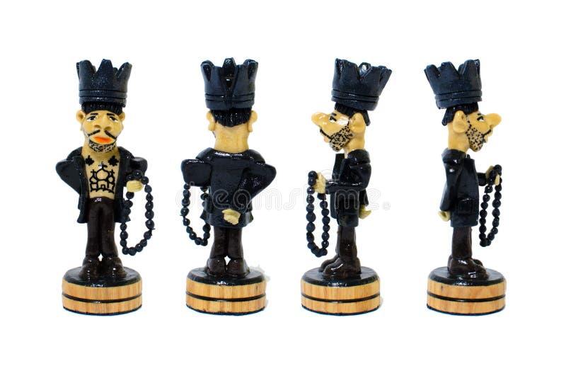 Βασιλιάς αριθμού σκακιού υπό μορφή φυλακισμένου από τις διαφορετικές πλευρές στοκ εικόνες