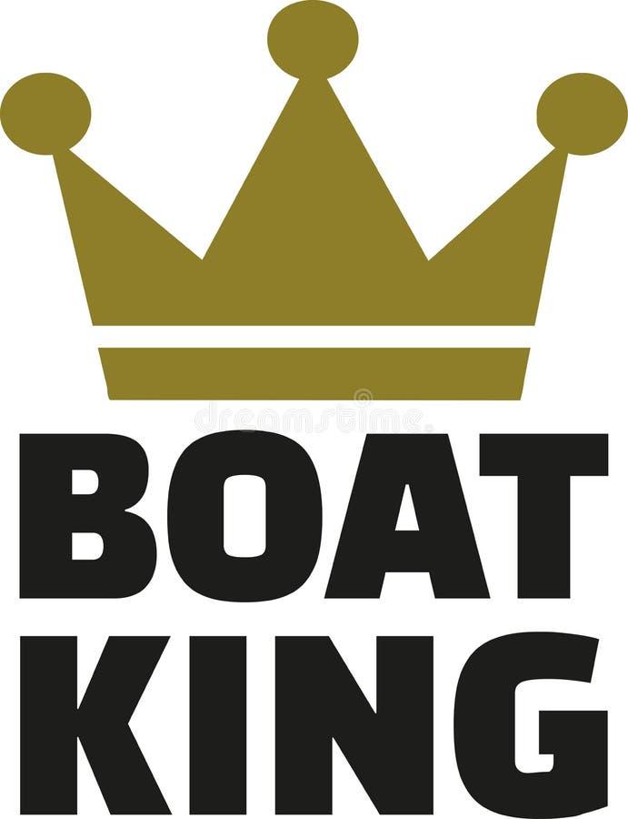 Βασιλιάς βαρκών με την κορώνα απεικόνιση αποθεμάτων