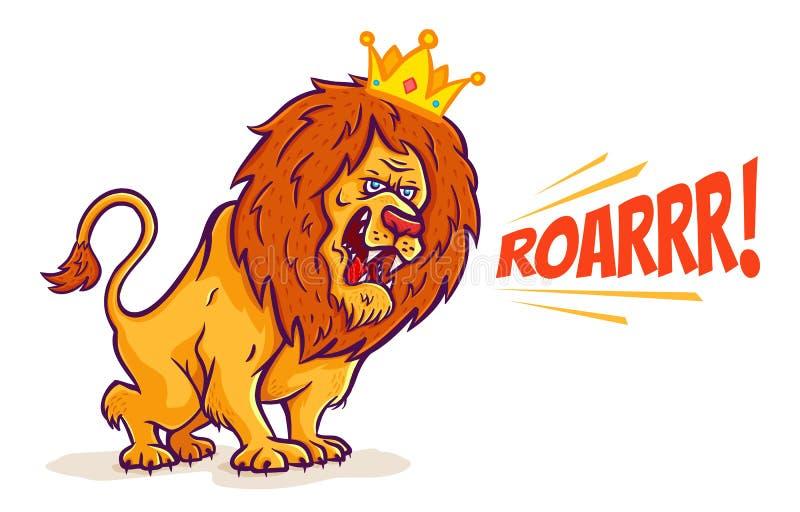 Βασιλιάς λιονταριών κινούμενων σχεδίων απεικόνιση αποθεμάτων