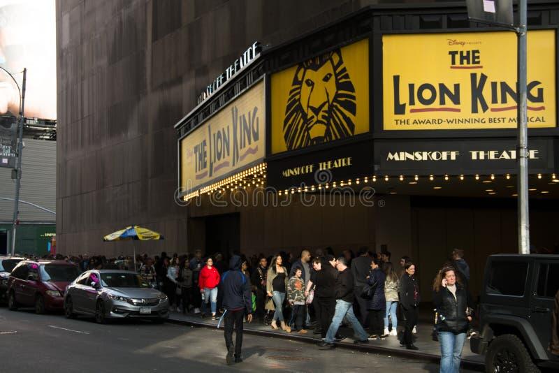 Βασιλιάς λιονταριών μουσικός στην πόλη της Νέας Υόρκης στοκ εικόνες