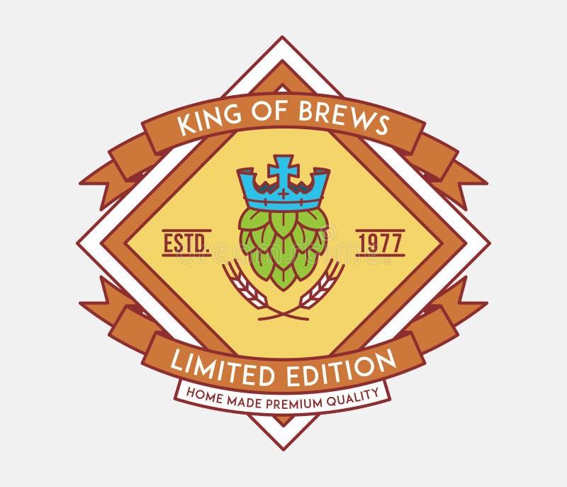 Βασιλιάς μπύρας των ζυθοποιών ελεύθερη απεικόνιση δικαιώματος