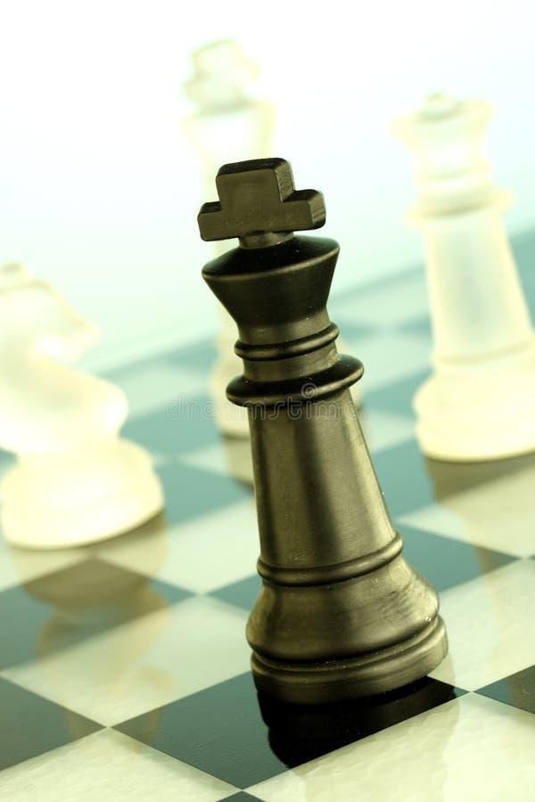 βασιλιάς παιχνιδιών σκακιού στοκ φωτογραφίες