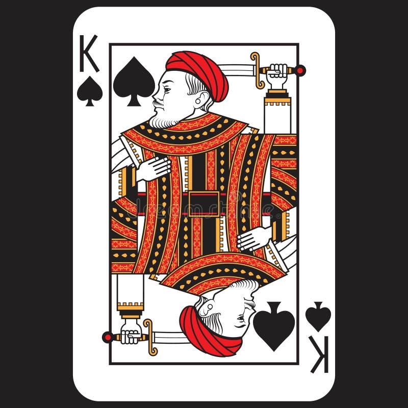 Βασιλιάς πόκερ καρτών απεικόνιση αποθεμάτων