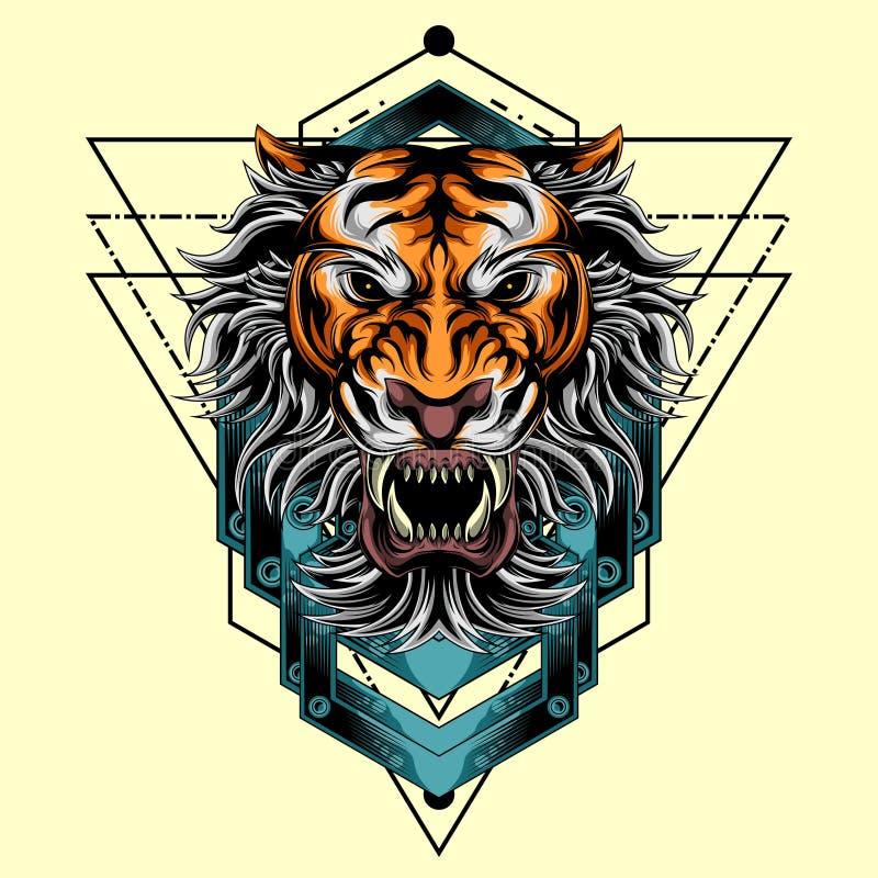 Βασιλιάς της τίγρης ελεύθερη απεικόνιση δικαιώματος