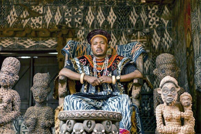 Βασιλιάς του βασίλειου Babungo, Ndofua Zofoa ΙΙΙ στοκ φωτογραφίες με δικαίωμα ελεύθερης χρήσης