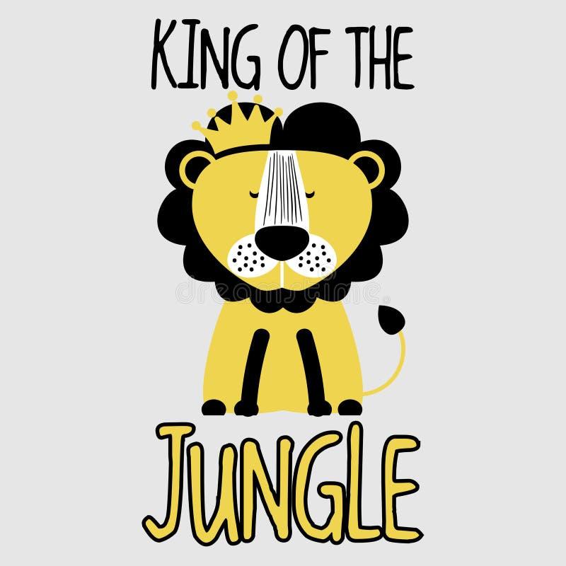Βασιλιάς του λιονταριού ζουγκλών διανυσματική απεικόνιση